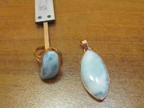 Изготовление кольца и кулона с камнем